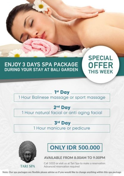 3 DAYS TARI SPA PROMO
