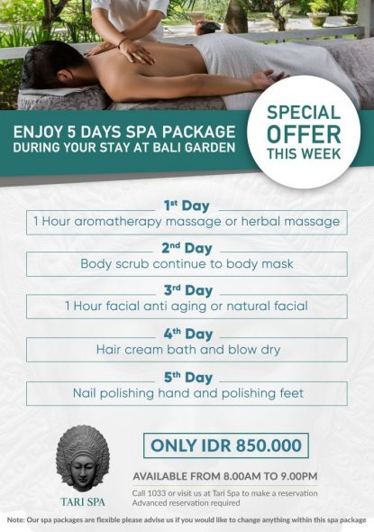 5 DAYS TARI SPA PROMO
